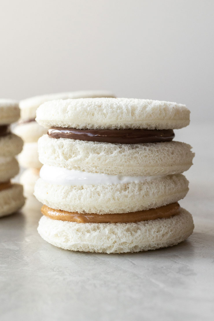 Fluffernutter Tea Sandwiches