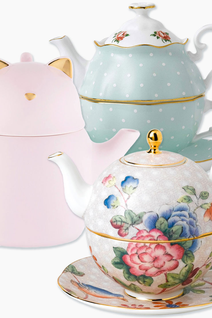 3 sets of Tea for One sets