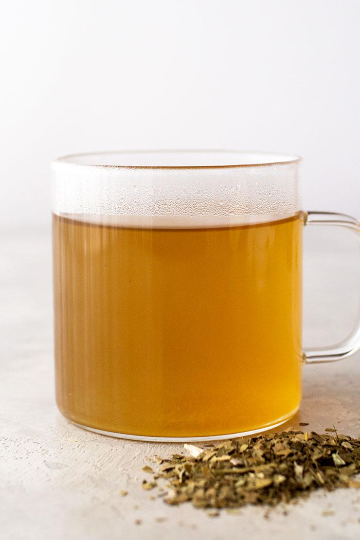 Hot yerba mate tea