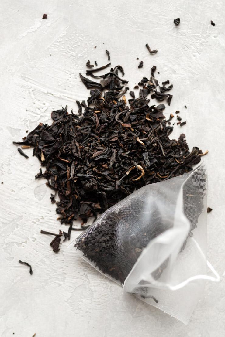 Tea leaves in Tea Sachets