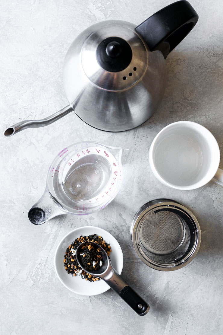 Green tea brewing tools