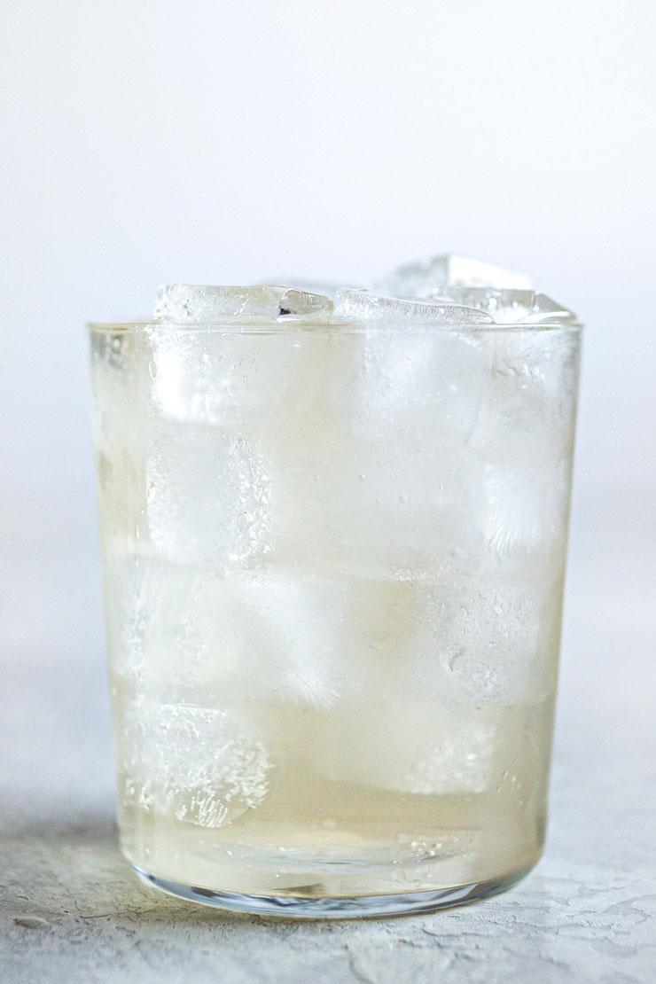 Iced lavender tea