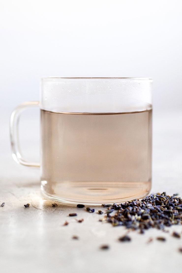 Hot Lavender tea