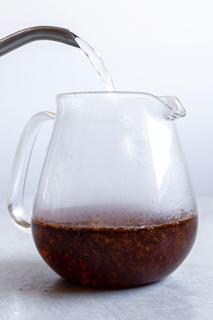 Making rooibos tea