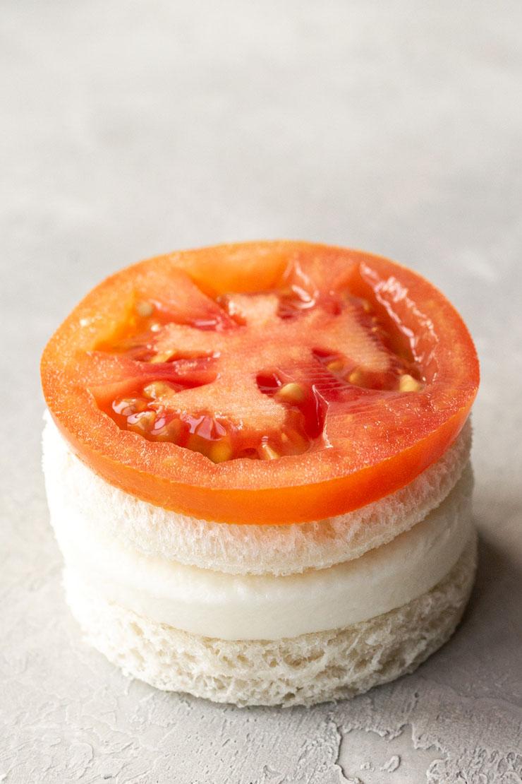 How to Make Mozzarella Cheese, Tomato, and Basil Finger Sandwiches