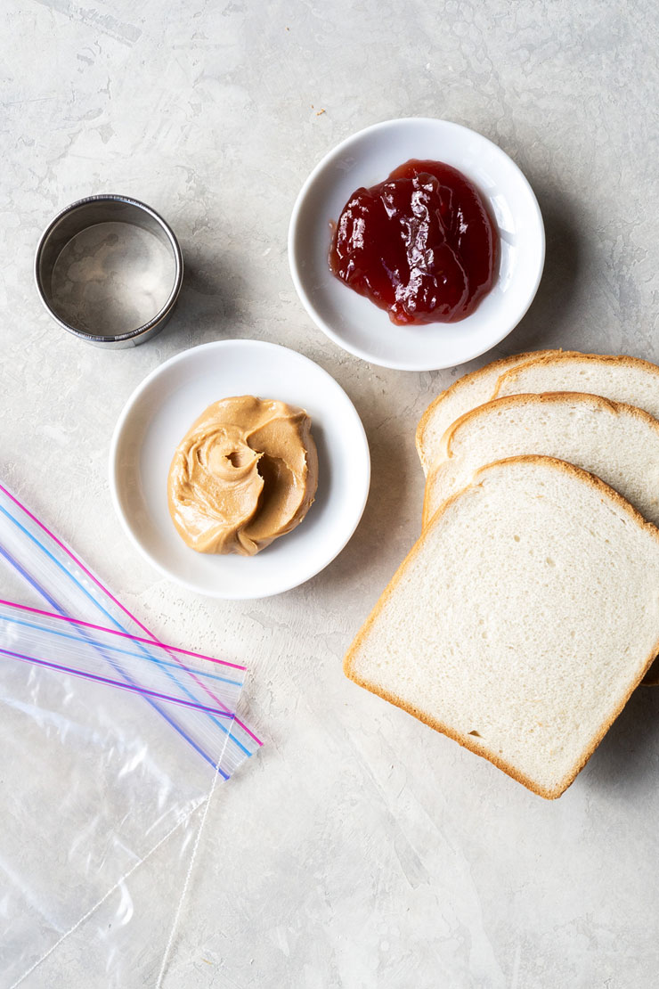 Peanut Butter & Jelly Tea Sandwich Ingredients