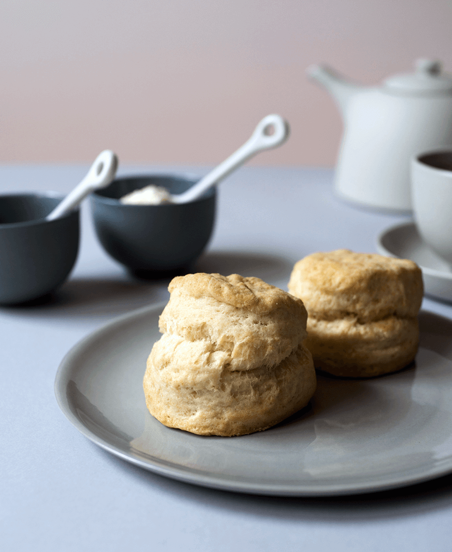 Tea and scones photo