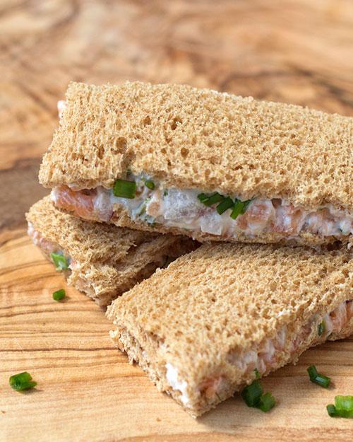 Smoked Salmon Tea Sandwich | Oh, How Civilized