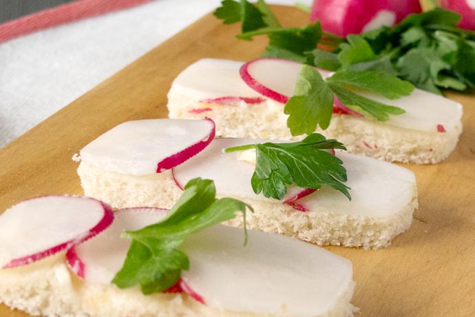 Radish & Lemon Butter Tea Sandwich | Oh, How Civilized