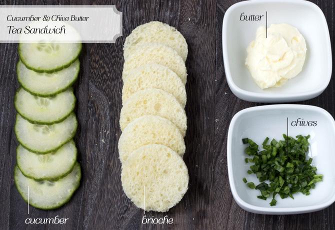 Cucumber tea sandwich image