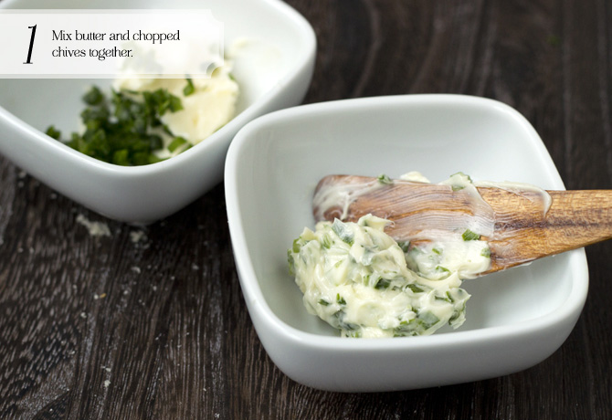 Chive butter photo