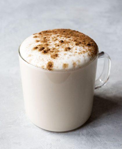 Vanilla rooibos tea latte