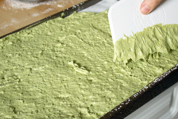 Green tea tiramisu photo