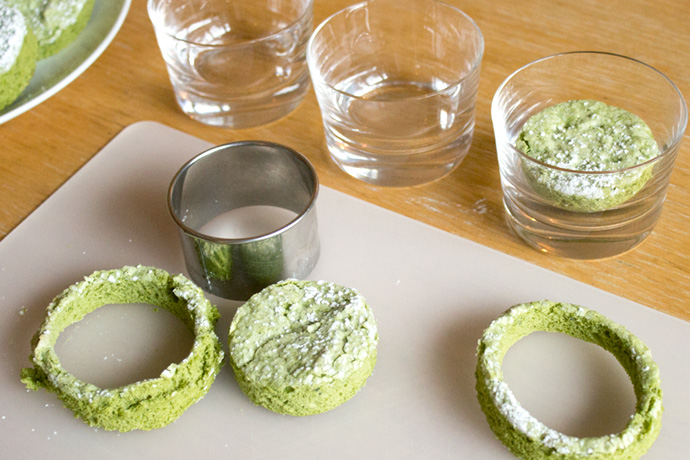 Matcha green tea tiramisu photo