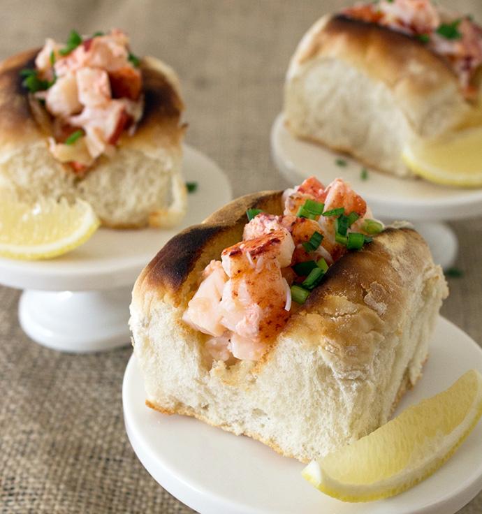 Tea Sandwich // Mini Lobster Roll | Oh, How Civilized