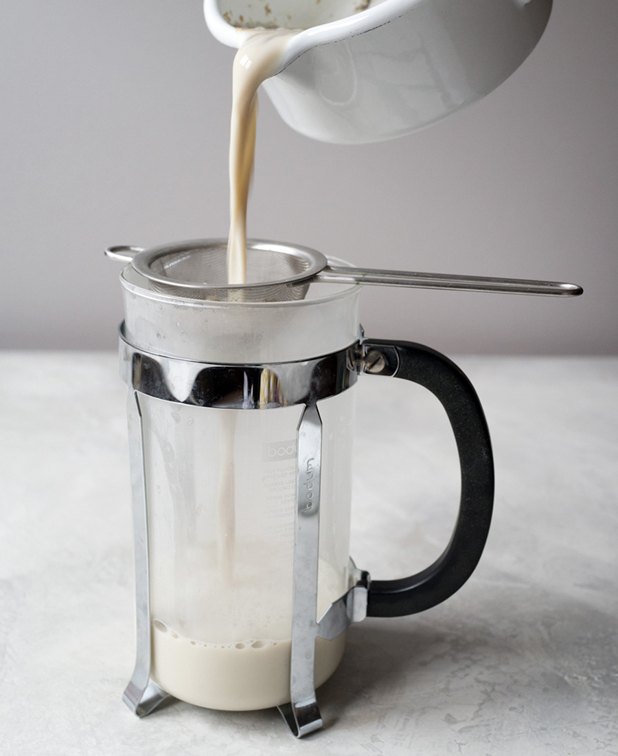 Chamomile Tea Latte French Press Milk photo