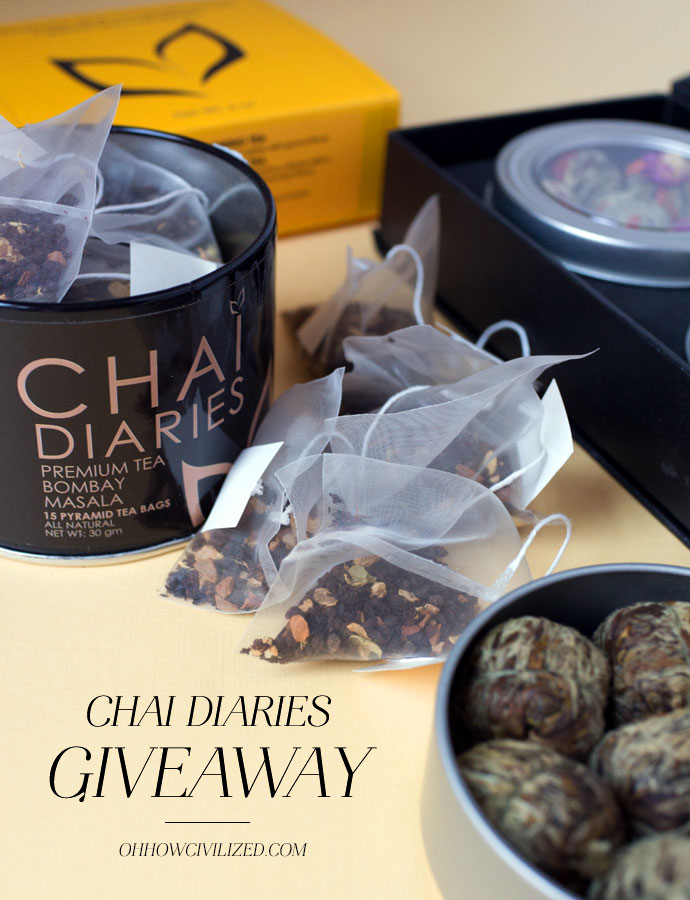 Giveaway Chai Diaries Oh How Civilized