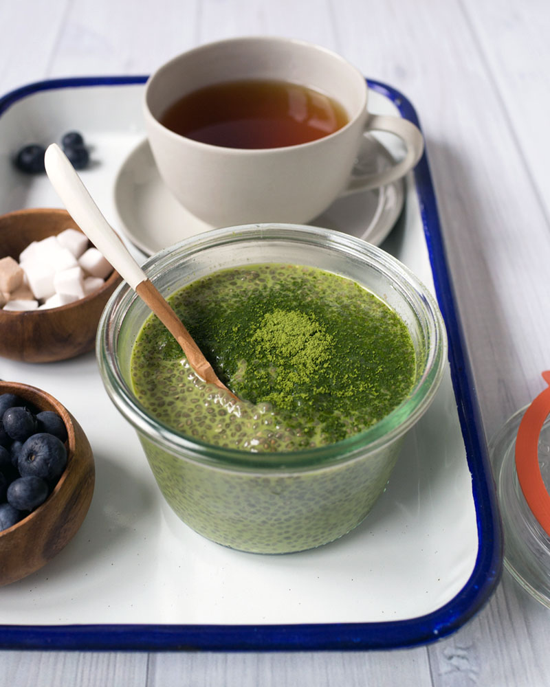 Matcha chia pudding photo