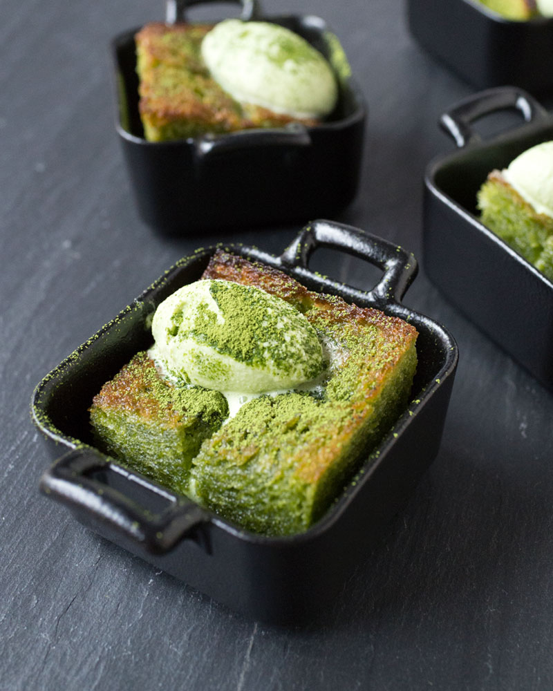 Matcha brick toast photo