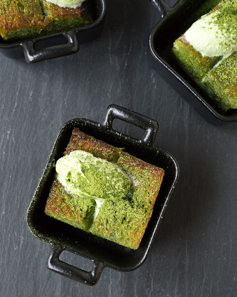 Mini matcha brick toast photo