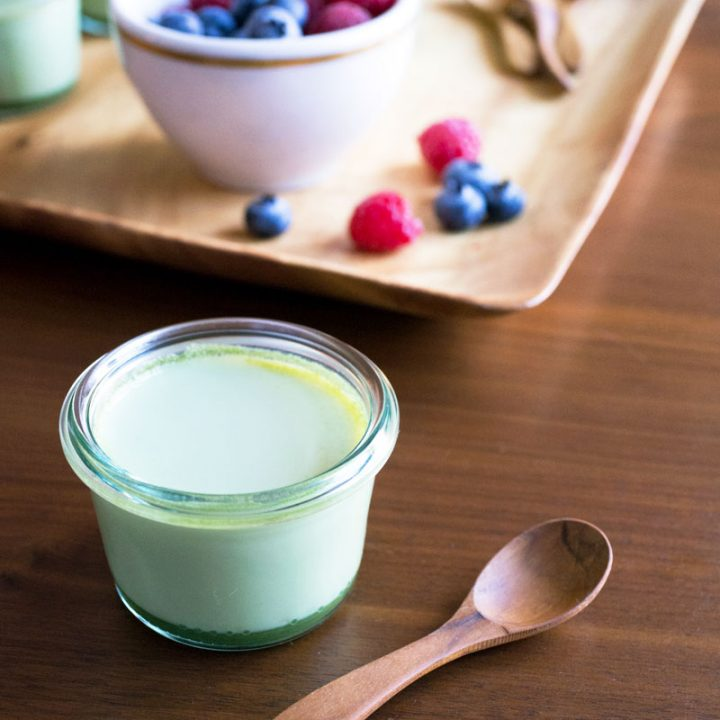 Mini Matcha (Green Tea) Panna Cotta