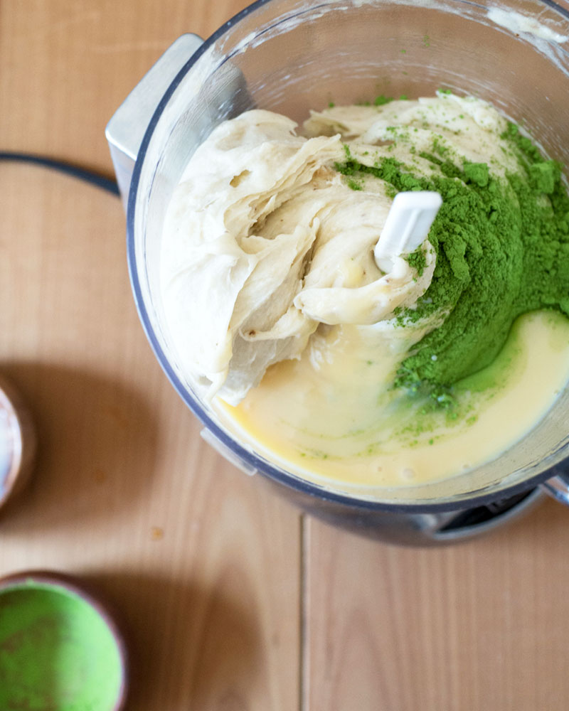 Matcha green tea banana ice cream