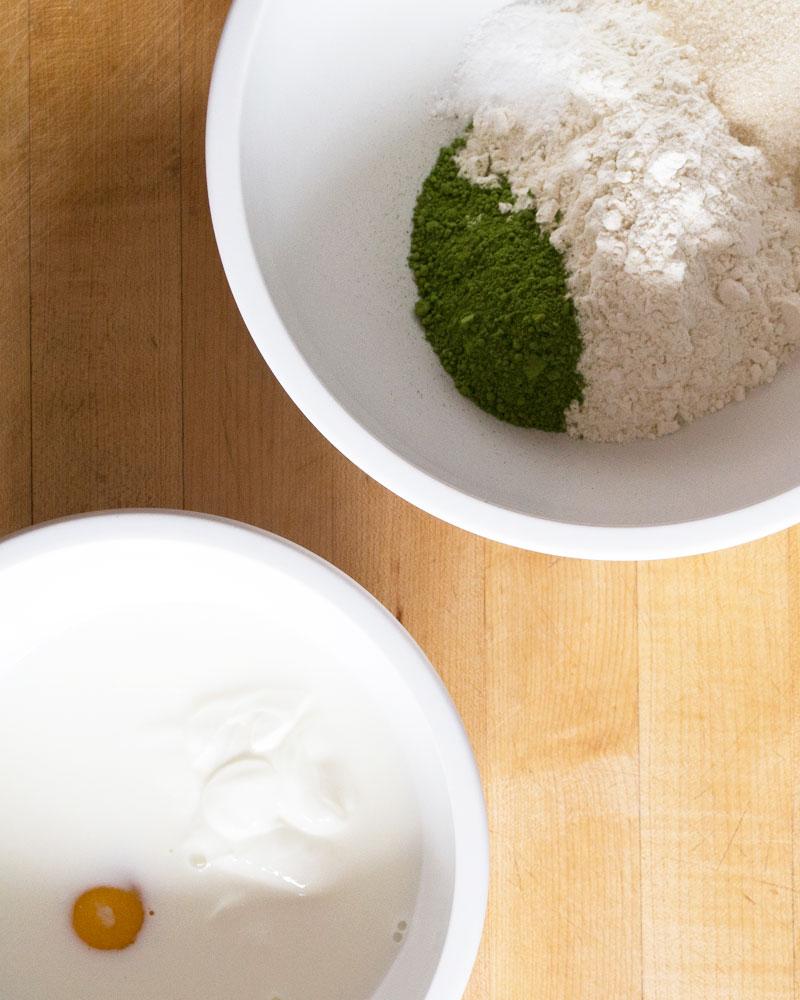 Matcha (Green Tea) Pancakes Ingredients image