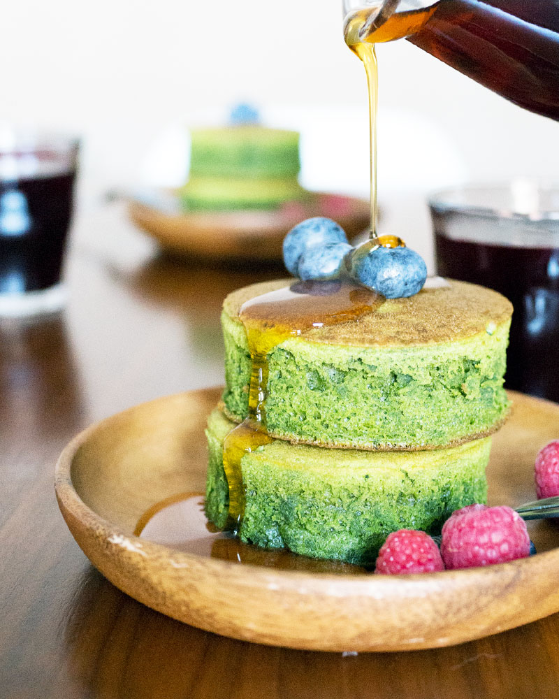 Matcha (Green Tea) Pancakes Recipe image