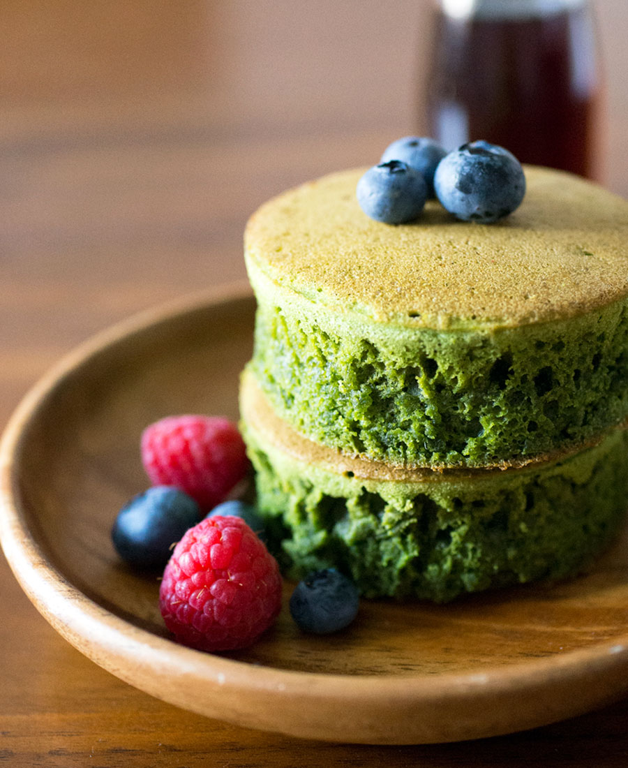 Matcha (Green Tea) Pancakes