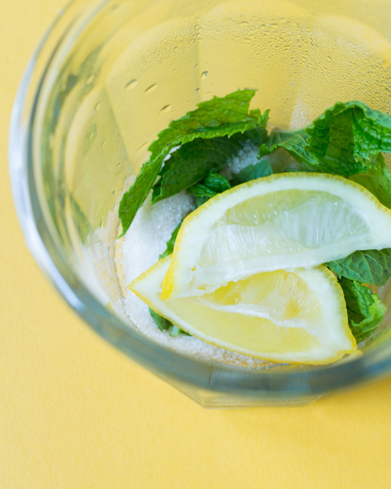 Muddled Mint Lemonade Iced Tea recipe
