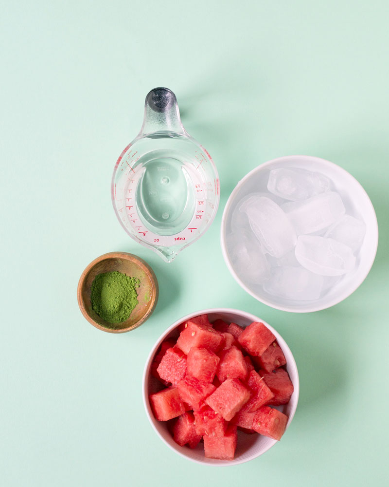 Iced Matcha (Green Tea) Watermelon Recipe