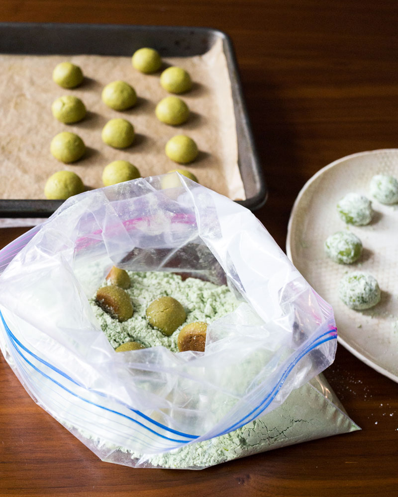 Matcha (Green Tea) Lemon Meltaway Cookies recipe