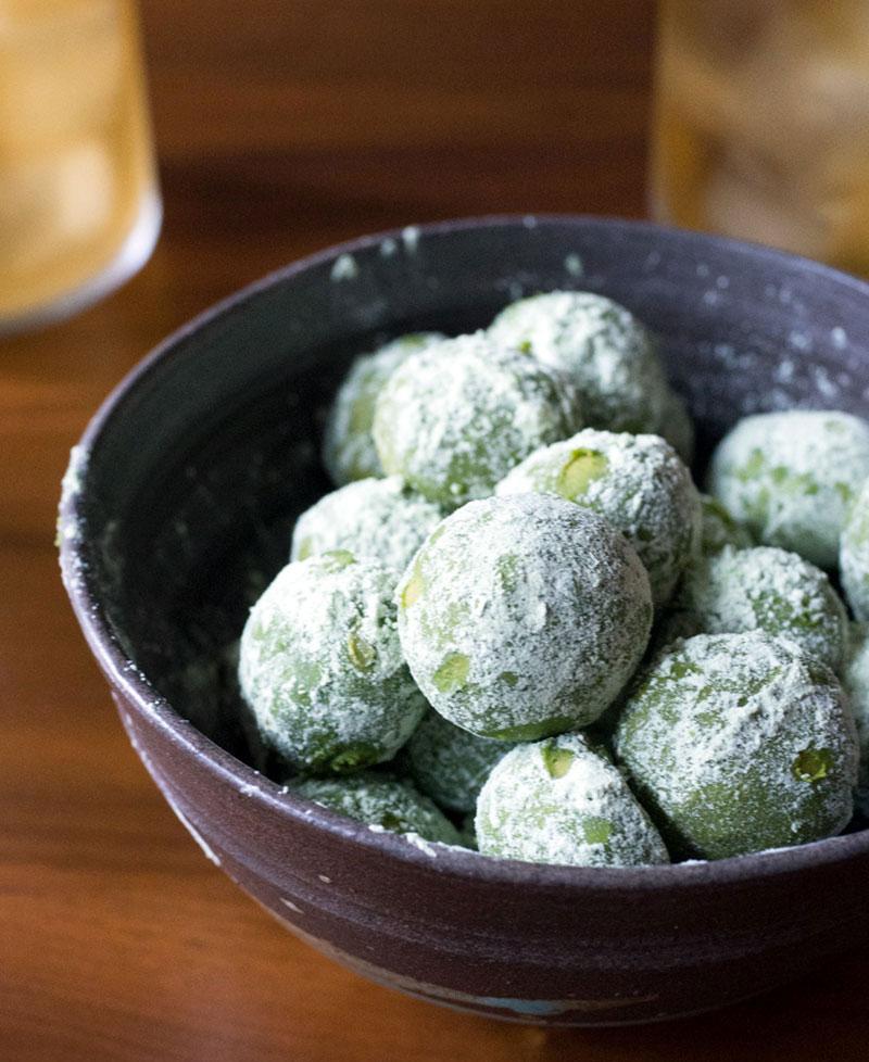 Matcha (Green Tea) Lemon Meltaway Cookies