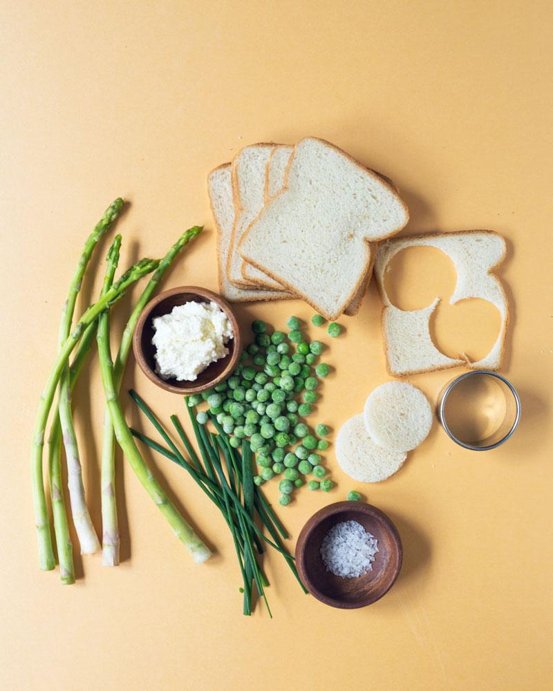 Pea, Asparagus, and Ricotta Tea Sandwich Recipe