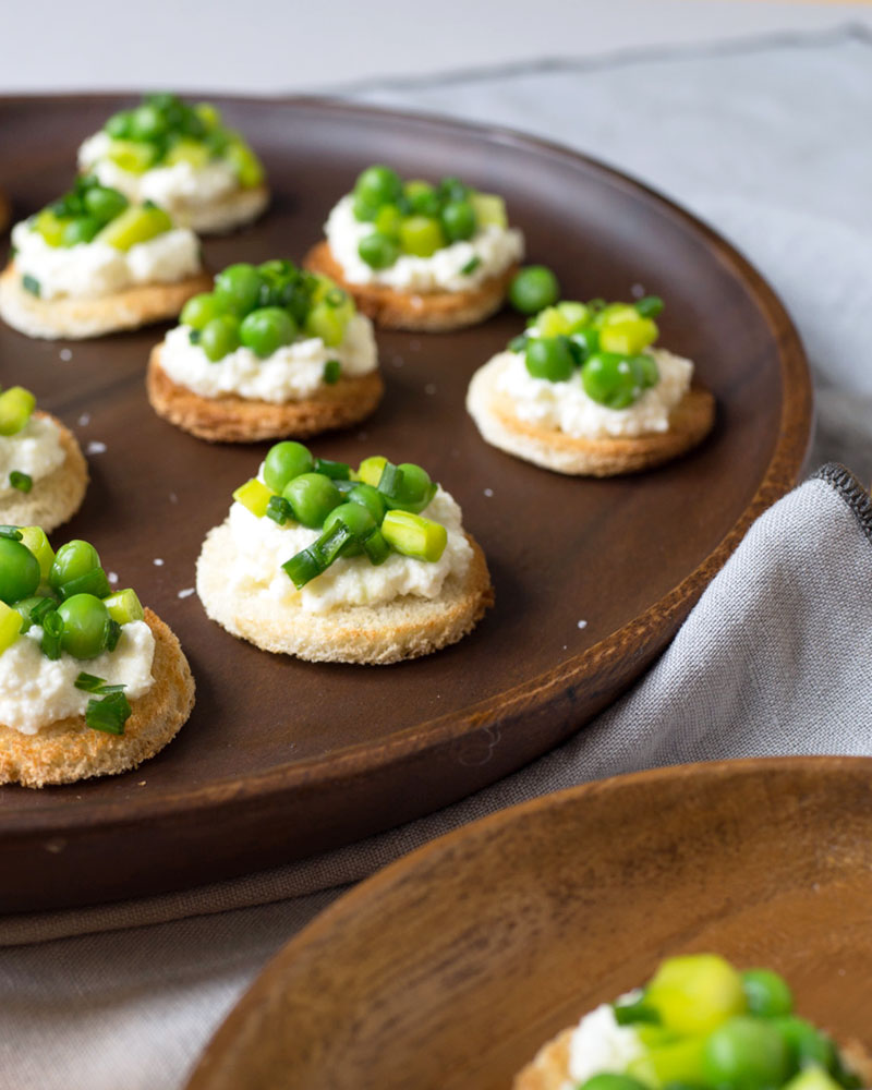 Pea, Asparagus, and Ricotta Tea Sandwich Recipe
