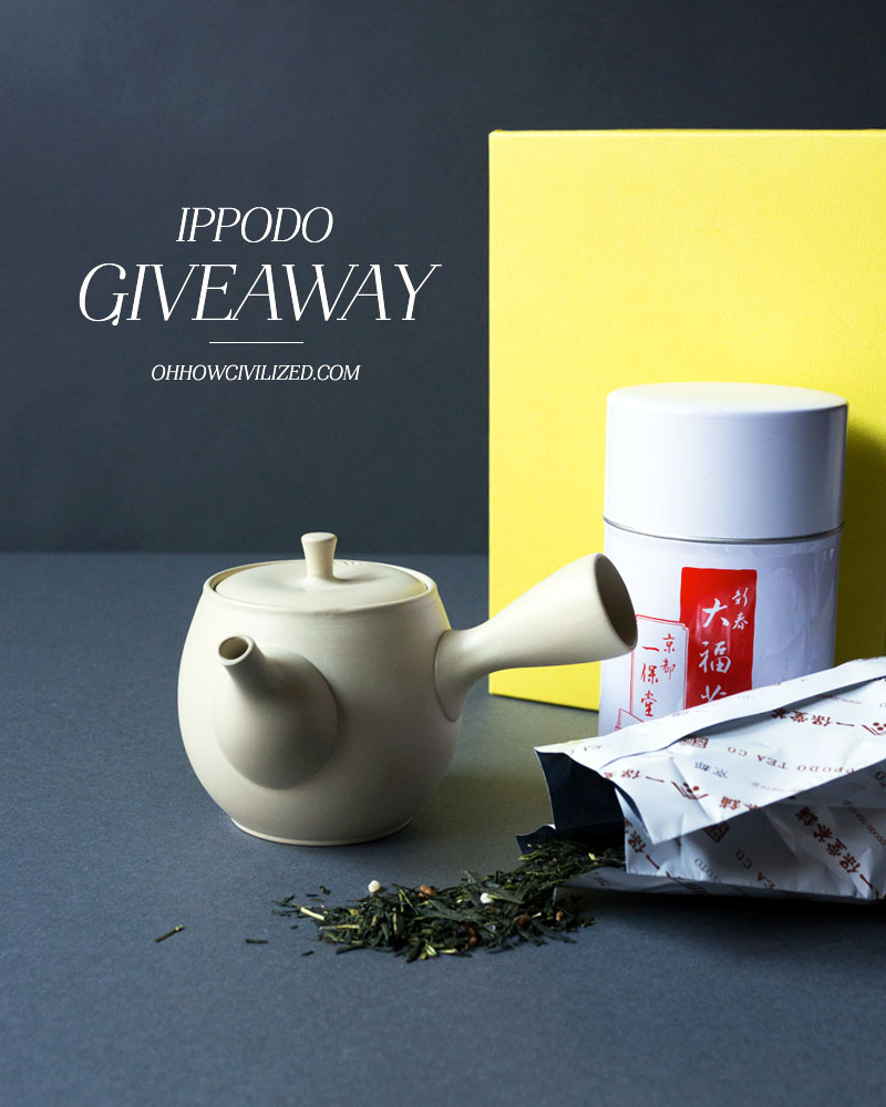 Ippodo Japanese tea giveaway