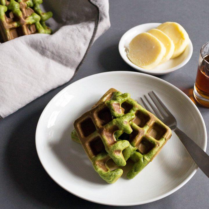 Matcha Waffles