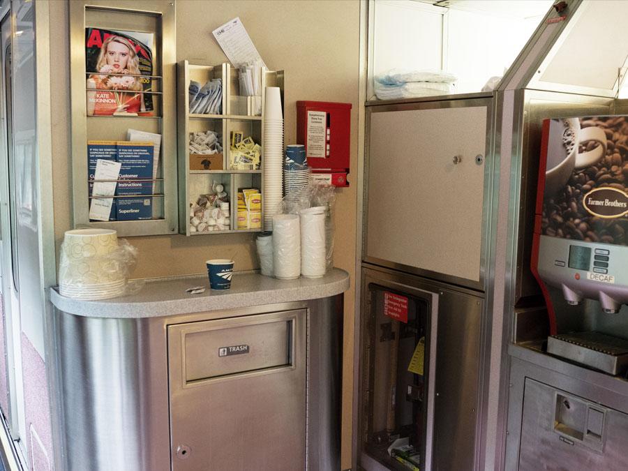 Amtrak Auto Train Coffee Station Image