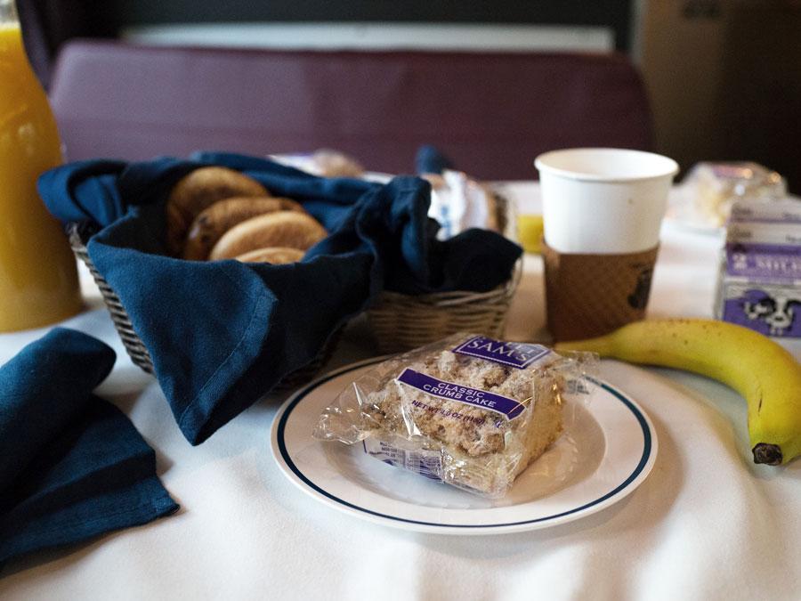 Amtrak Auto Train to Florida Breakfast Image