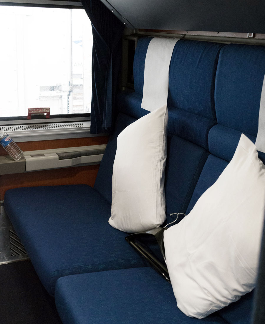 Amtrack Auto Train Bedroom Superliner Roomette Photo