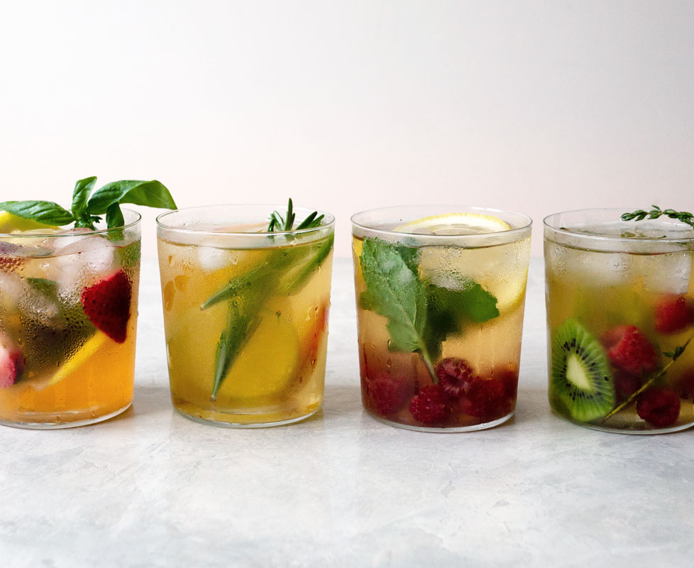 cold brew tea with fruit