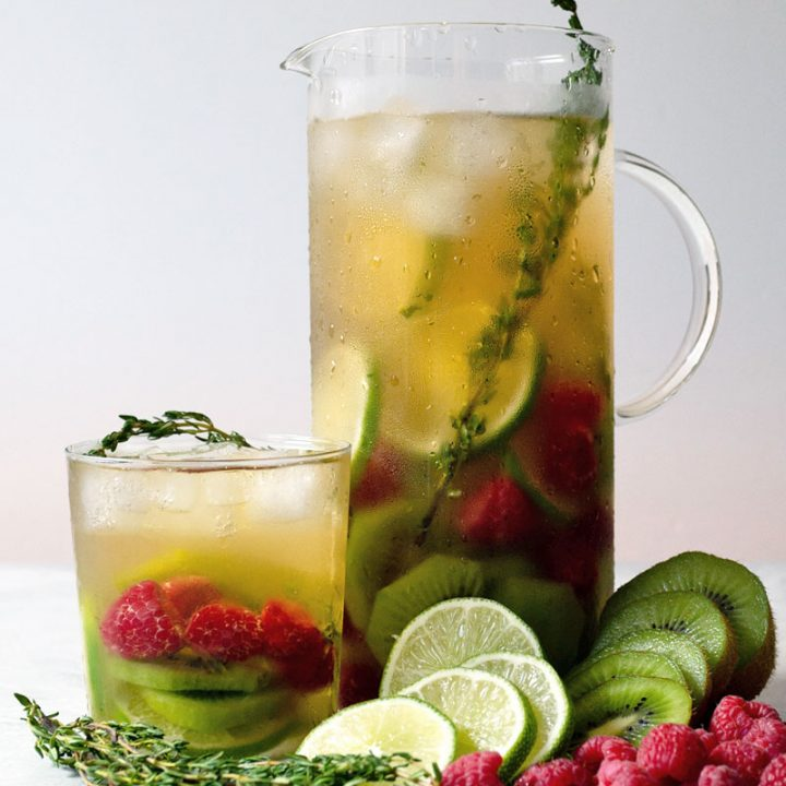 Iced Herbal Tea with Fresh Fruit