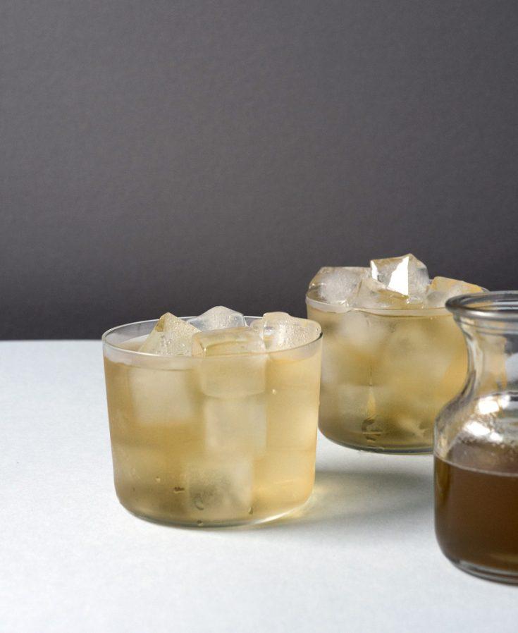 Iced Tea with Lemon Verbena Honey Syrup