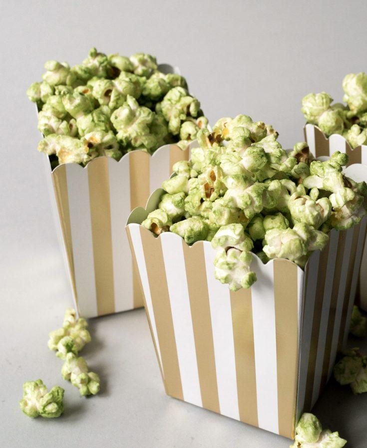 Matcha Stovetop Popcorn