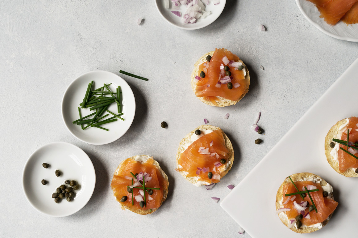 Smoked Salmon Mini Bagel