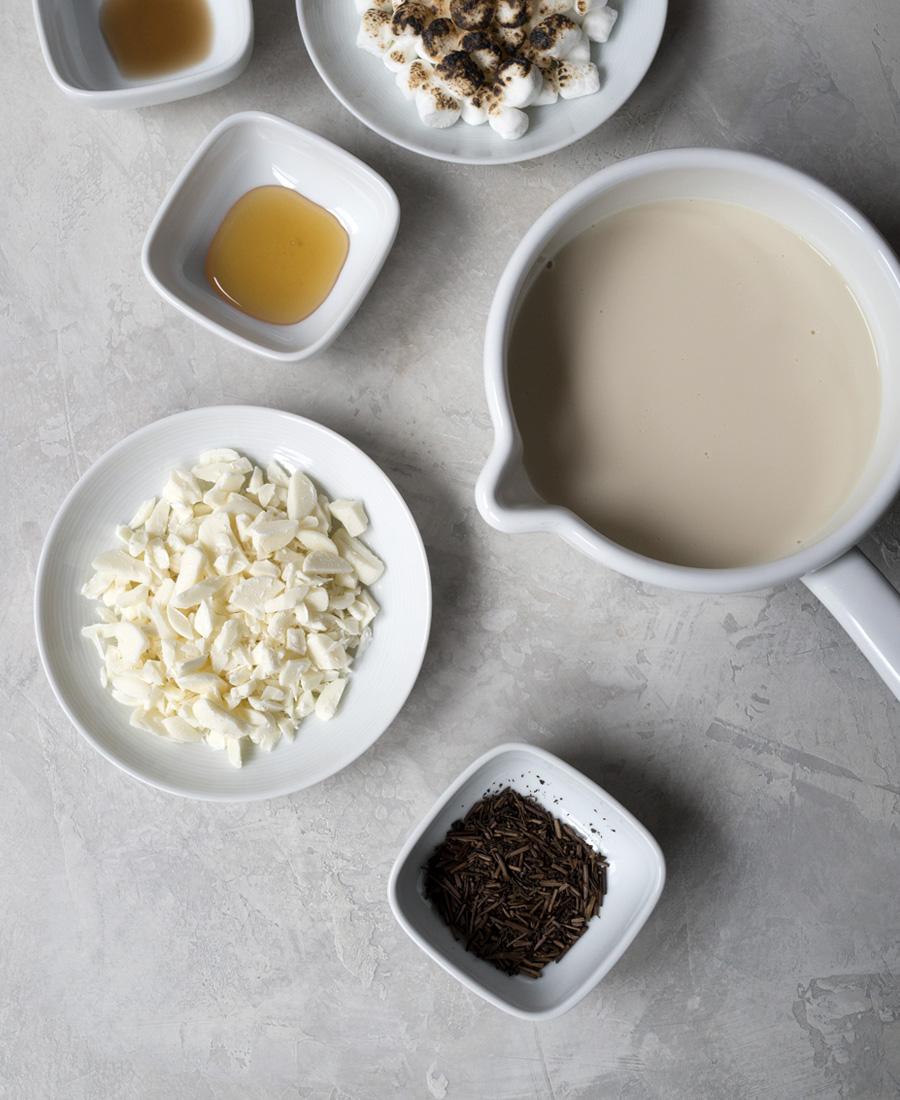 Hojicha hot chocolate recipe