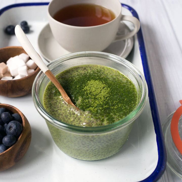 Matcha (Green Tea) Chia Seed Pudding