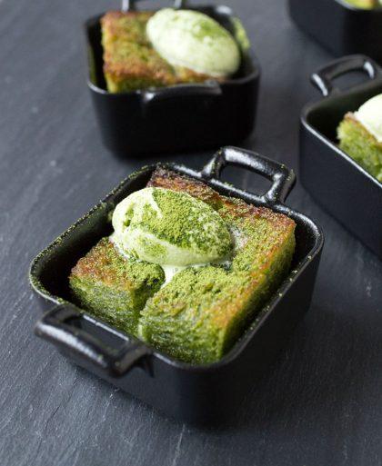 Matcha brick toast