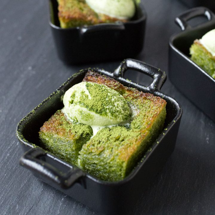Mini Matcha (Green Tea) Brick Toast