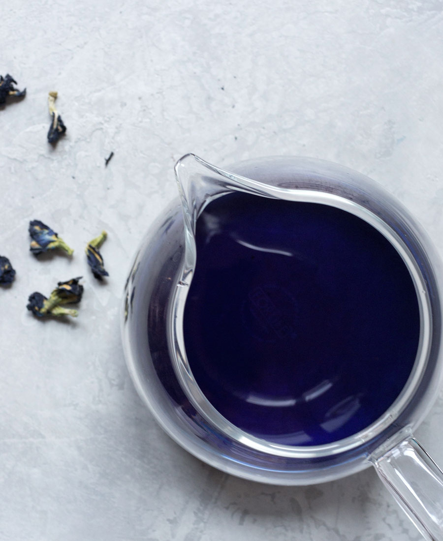 Butterfly pea flower tea photo